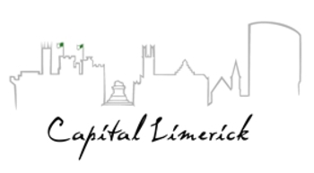 Capital Limerick's specially commissioned logo, featuring a number of the city's distinctive historical and modern architectural features
