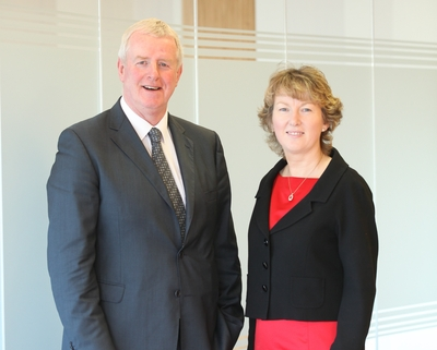 John Moloney, managing director, and Siobhan Talbot, group finance director, Glanbia plc.