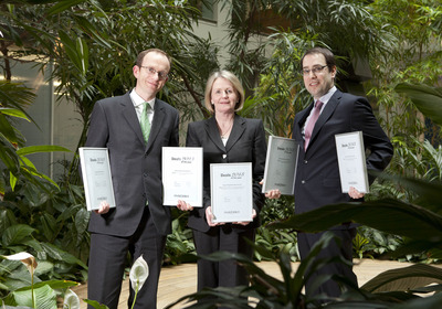 (L-R) David Baxter, head of restructuring; Catherine Duffy, partner in the banking and financial services department and head of aircraft finance and Alan Casey, partner with A&L Goodbody's winning deals.