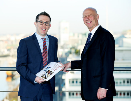 [L-R] PwC's John Murphy and Nigel Vooght, global FS chief, in Dublin this month, to launch PwC's 'Blurred Lines' Fintech report.