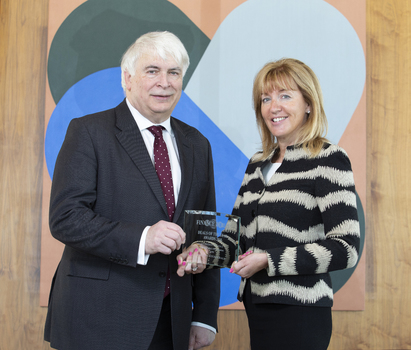 [L-R] Ken O'Brien, publisher, <i>Finance Dublin<i> and Hilary Marren, partner, McCann FitzGerald.