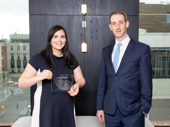 Tanya Twomey, Senior Relationship Manager; David Ward, head of AIB Corporate Agency Team.