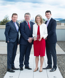 [L-R]: Conall Boyle; Senior Manager, Bank of Ireland Corporate Banking, David Walsh; Group CEO, Netwatch Global, Laura Dillon; Principal, Riverside Company, Maurice Healy; Director, Bank of Ireland Corporate Banking.