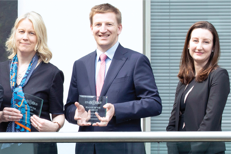 [L-R] Niamh O'Sullivan, Head of Commercial Property; Charlie Carroll, Partner, Corporate and M&A; Amelia O'Beirne, Partner, Tax of A&L Goodbody