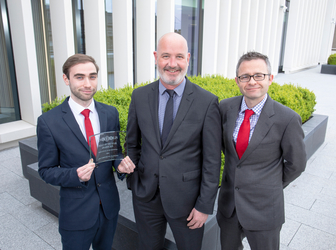 [L-R]: Feidhlim O'Caheny, Relationship Manager, AIB Real Estate Finance; Ciaran Mooney, Head of AIB Commercial Real Estate; Barry Gleeson, Relationship Manager, AIB Real Estate Finance.
